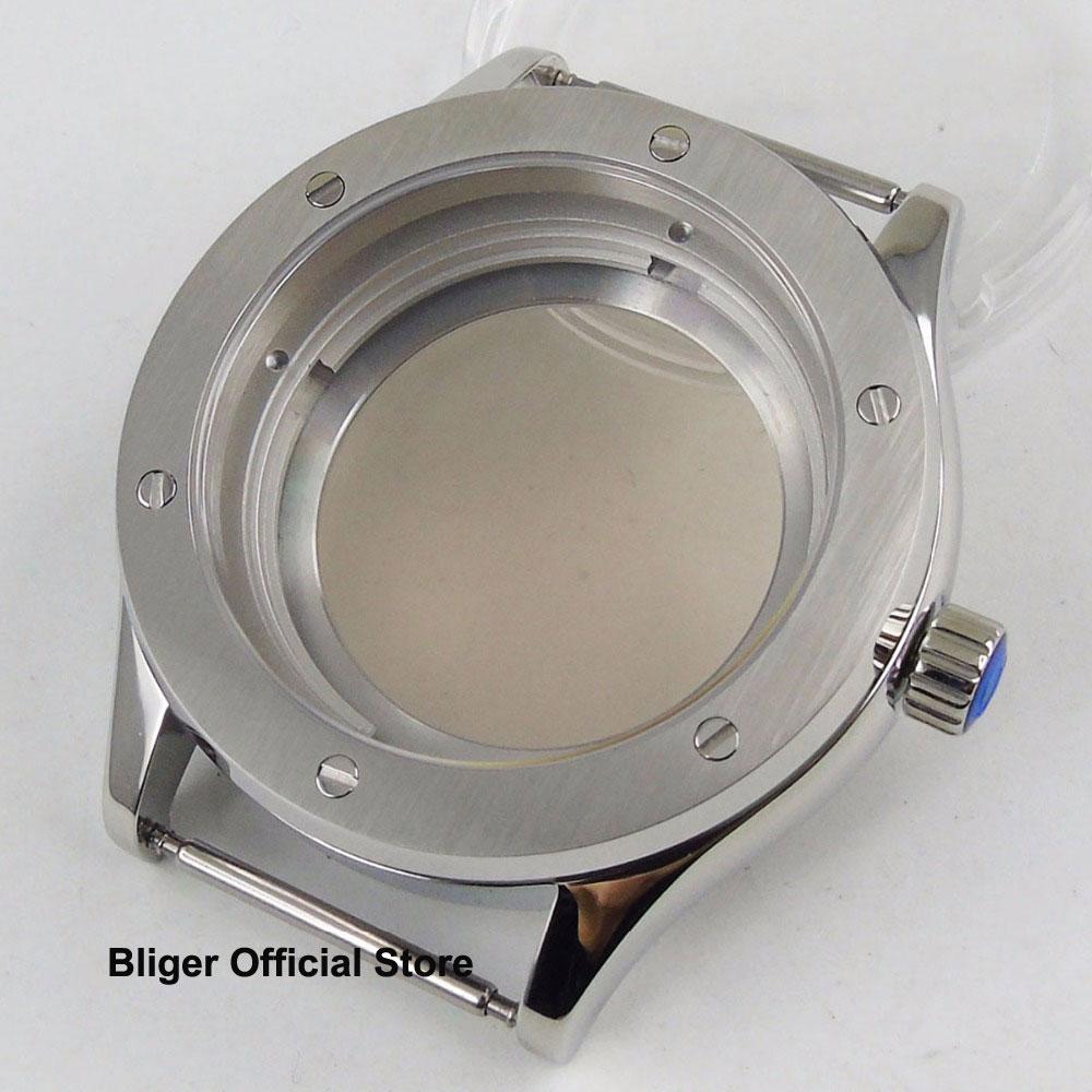 100% QualitäT Sapphire Glas 42mm Poliert Uhr Fall Fit Nh35a Automatische Bewegung Männer Uhr