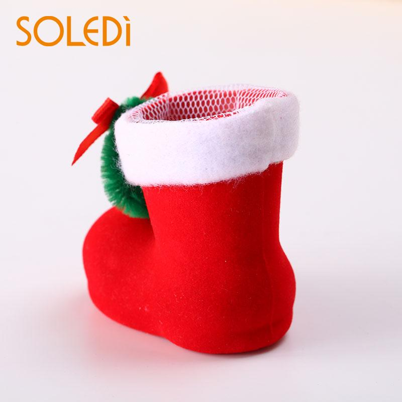 Candy Boots Socks Christmas products Gift Bags Box Festival Xmas Party