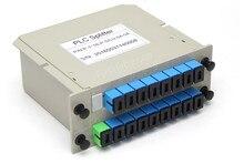 1x16 SC/UPC divisor de caja de fibra óptica divisor de Cassette Tarjeta de inserción tipo ABS PLC divisor caja, FTTH 1X16 Planar waveguide