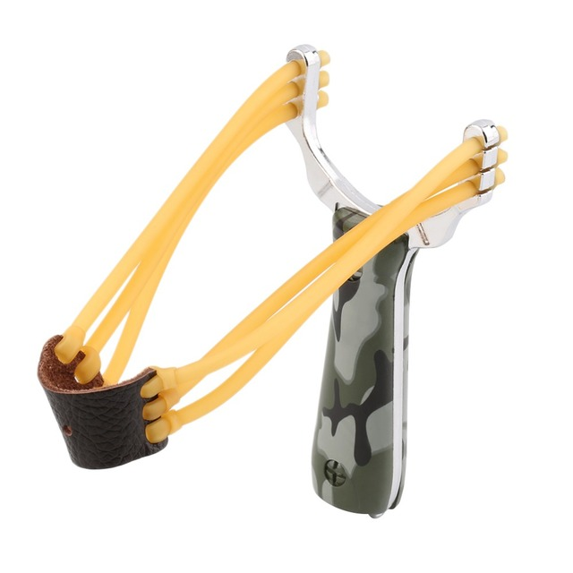 Outdoor Powerful Steel Catapult Slingshot Marble Hunting Games Sling Shot free shipping