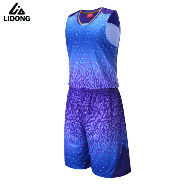 Men Women 3D Basketball Jersey Sets Uniforms Breathable throwback basketball Sports jerseys Shirts Shorts quick dry pockets DIY
