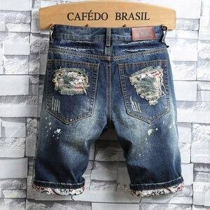 Мужские джинсовые шорты с дырками, модные повседневные облегающие шорты в стиле ретро, лето 2020