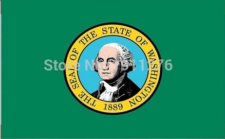 3x5ft High quality New fashion Washington flag United State American Banner Digital Printing 100D