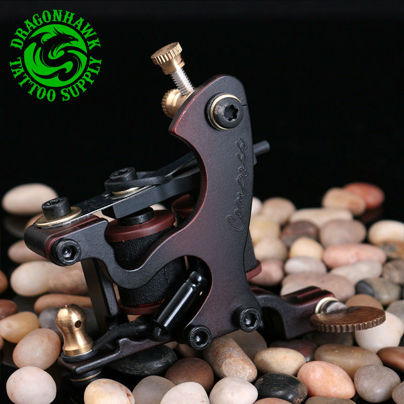 New Design Compass Tattoo Machine Liner & Shader Steel Frame Copper Coils Tattoo Gun
