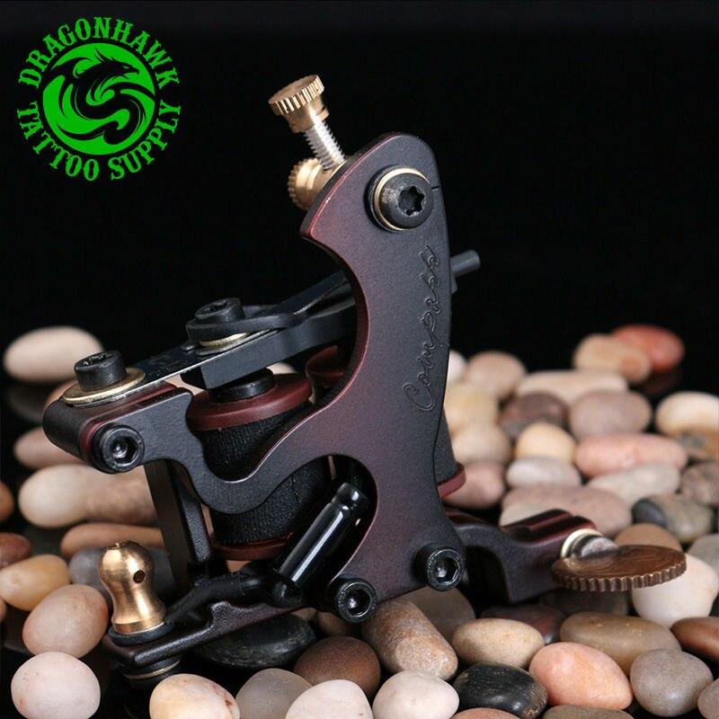 Nouveau revêtement de Machine de tatouage de boussole de conception et cadre en acier de Shader bobines de cuivre pistolet de tatouage
