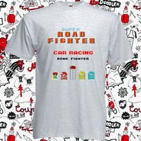 New Game Super Road Fighter Car Racig Men S Grey T Shirt Size S To 3XL