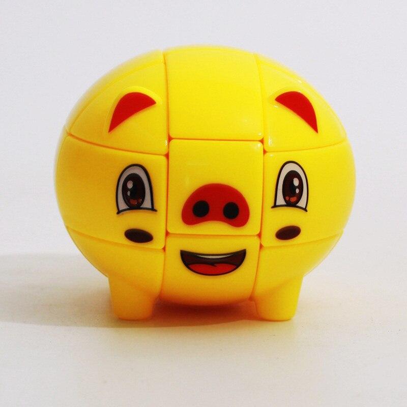 3x3x3 Cube Pig Shape Magic Cube For Beginner Early Educational  Z-CUBE Brand Fidget Cubes Spinner Toys For Children Cubo Magic