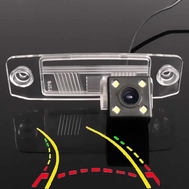 Интеллектуальная динамическая траектория треков Автомобильная камера заднего вида для Kia Oprius K3 Forte Ceed Rondo Cerato Carens Borrego Sorento Sportage