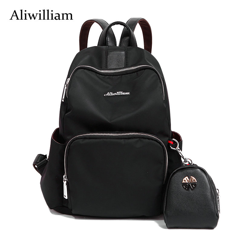 Aliwilliam Purse Gift New Arrival Spring Women Oxford Backpack Simple Casual School Bag Leather Backpack Girl