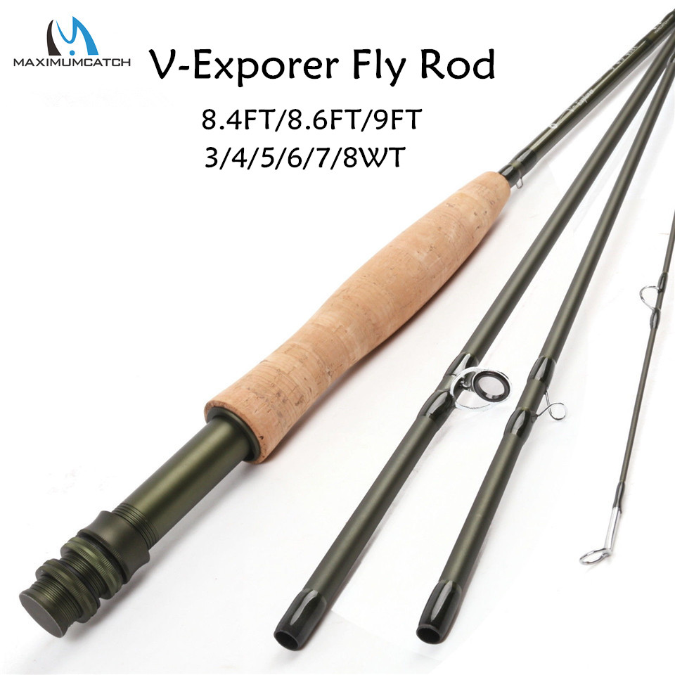 Maximumcatch 3/4/5/6/7/8WT Fly Rod Carbon Fiber Fast Action Fly Fishing Rod With Hard Plastic Tube Fly Fishing Rod maximumcatch nano fly rod im12 40t toray carbon fast action super light with cordura tube fly fishing rod 3 4 5 6 7 8wt 8 4 9