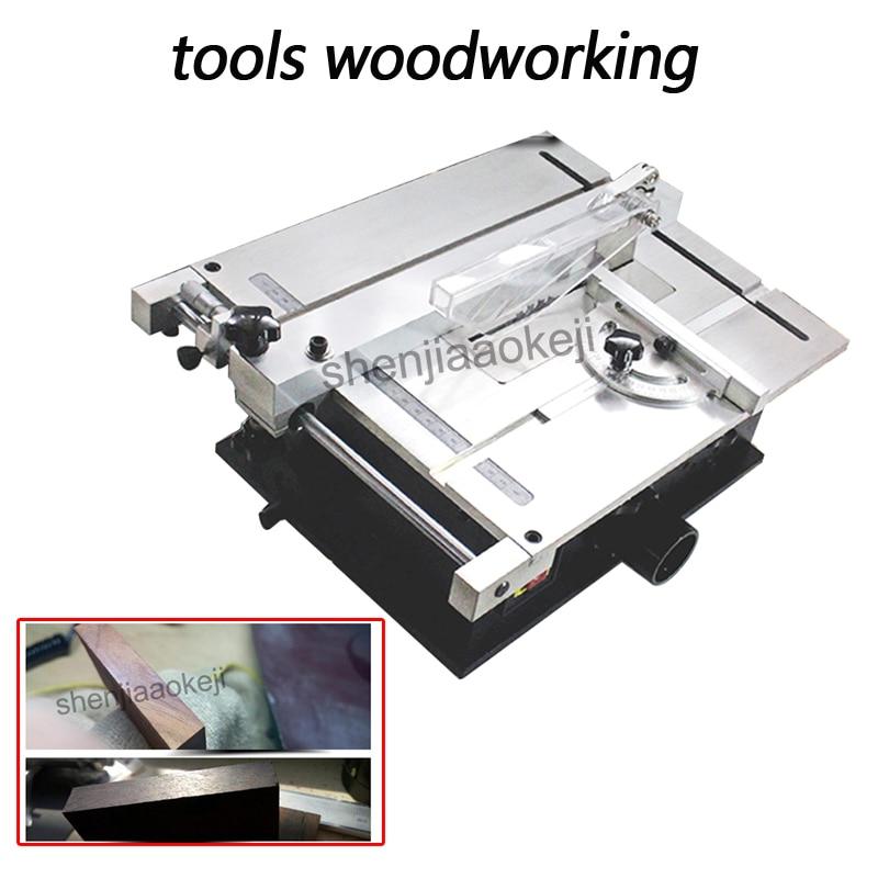 Menuisiers outils menuiserie 240 W petites scies circulaires machines à bois Mini précision Table scie à bois machine 220V50Hz