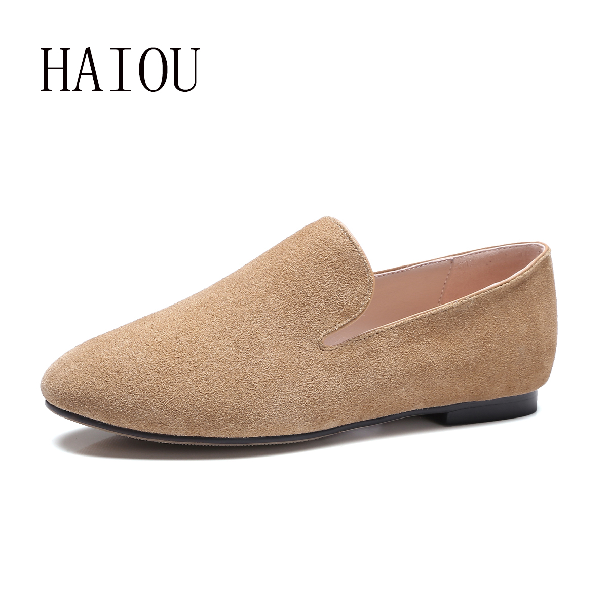 Top Quality Loafers Women Fashion Womens Flats Casual Brand Shoes Round Toe Woman Soft Sole Genuine Leather Shoes Pink Plus Size new 2017 spring summer women shoes pointed toe high quality brand fashion womens flats ladies plus size 41 sweet flock t179