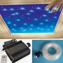 NEW 45w RGB LED fiber optic star ceiling light kit 0.75mm 600pcs*3m+200pcs*2m optical fiber LED dmx light engine light source