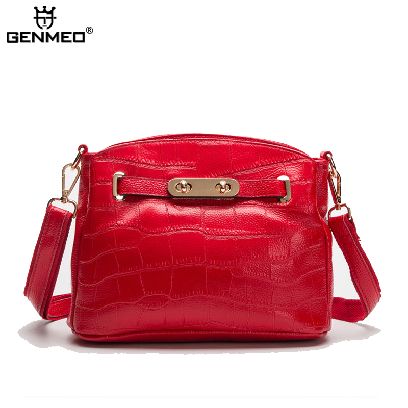 New Arrival Famous Brands Design Fashion Women's Handbags Women Genuine Leather Messenger Bags Ladies Handbag Bag Bolsa Feminina 2018 new designer retro genuine leather bags handbags women famous brands ladies office work bag messenger clutch bolsa feminina