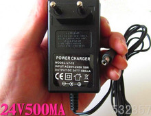 Adaptador de potência do padrão da ue 24v, carregador de bateria de scooter elétrico chumbo ácido dc27.6v 500ma 5.5 * saída dc de 2.1mm