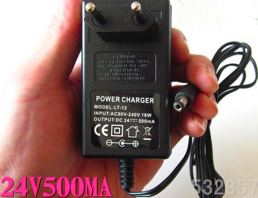 Padrão DA UE 24 v poder carregador de bateria de chumbo ácido carregador de bateria scooter elétrico scooter E-carregador DC27.6v 500mA 5.5 * 2.1mm de Saída DC