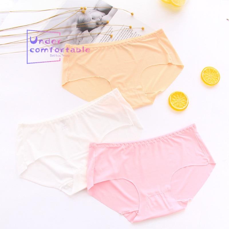 Summer Ice Silk Cool Feeling Nontrace smooth Women 39 s Underwear Lady Panties Comfortable Intimates Lovely Girl 39 s Briefs 515 in women 39 s panties from Underwear amp Sleepwears