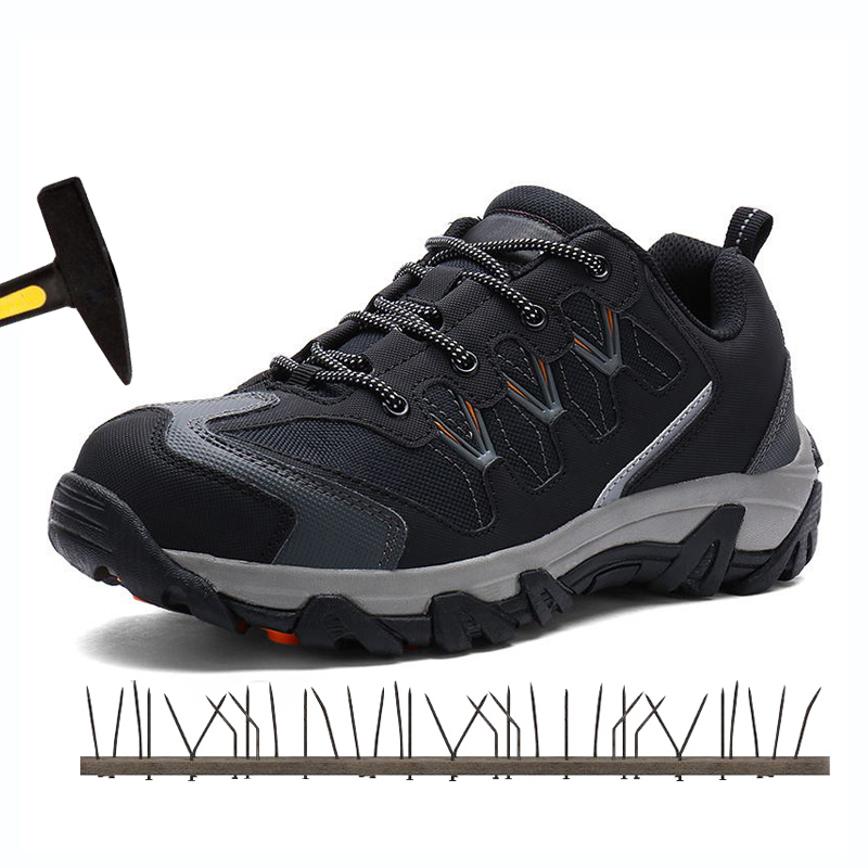 Males's Metal Toe Cap Work Security Footwear Out of doors Sneaker Boots Informal Breathable Puncture Safety Footwear Reflective