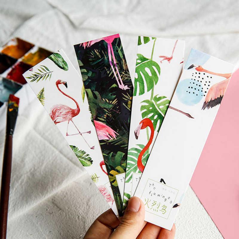 30 шт./кор. милая бумага с Фламинго Закладка Книга Школьные маркеры Канцтовары