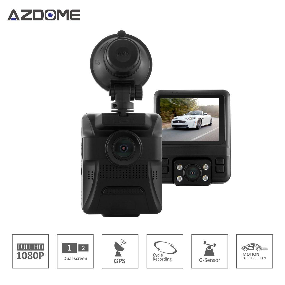 GS65H New Arrival Hot Novatek 96655 Dual Lens Car DVR 2 4 Display font b Camera