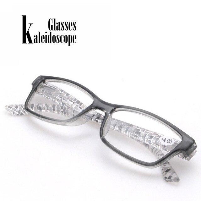 Kaleidoscope Glasses Women Men Reading Glasses Unbreakable Resin Eyeglasses Flower Colors Temple Presbyopic Eyeglasses +1.0.+4.0