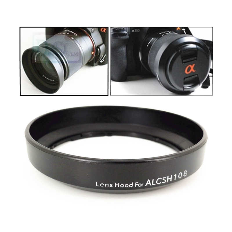 Lens Hood replace ALC-SH108 for Sony DT 18-55mm f3.5-5.6 SAM II / 18-70mm f3.5-5.6 SAL1855 SAL18552 SAL1870 SH108