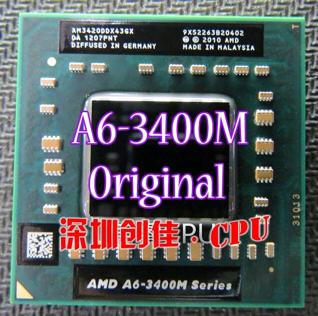 Brand original AMD Laptop Notebook CPU processor A6-3400M 1.4Ghz Socket FS1 A6 3400M AM3400DDX43GX Free Shipping