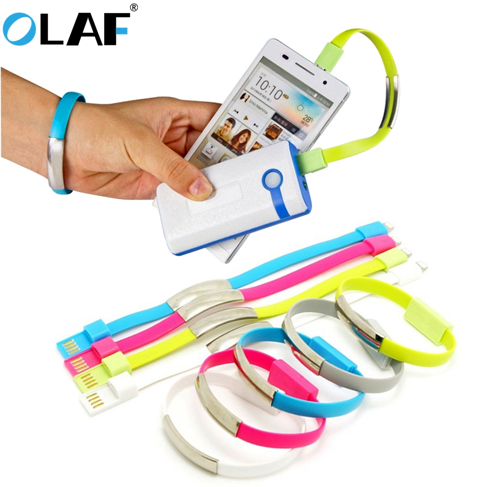 OLAF New Bracelet Micro USB Type C Cable USB C Data Charging Cable For IPhone XS X 8 7 Samsung Xiaomi Android USB Phone Charger