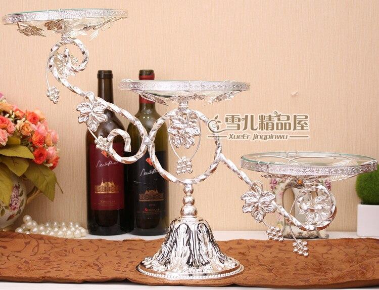 Европейская мода лоза Фруктовая тарелка три слоя торт компот роскошные свадебные украшения инвентарь сердце украшение для дома - 6