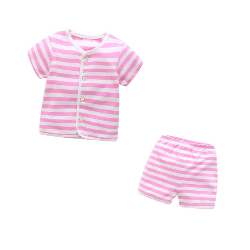 2pcs Baby Boy Outfit Set Summer 2017 Cute Newborn Baby Sets Infant Girl Clothing Suits Short Sleeve Cotton Toddler Baby girl Set baby girl 1st birthday outfits short sleeve infant clothing sets lace romper dress headband shoe toddler tutu set baby s clothes