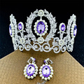 High-end fashion bride crown lady luxury crystal Rhinestones European princess large crown wedding crown headdress
