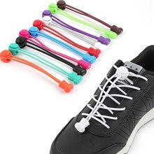 10 pairs Stretching Lock lace  Sneakers Elastic Elastic Adult children Color Round Lazy Lace Buckle Rree Lace