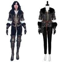 Ведьмак 3 Косплей Костюм Дикая Охота Yennefer наряд косплей костюм взрослый полный набор Хэллоуин Карнавальный Костюм