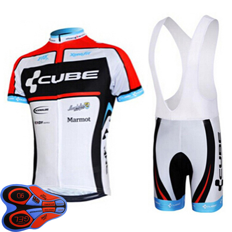 Цена за 2017 Cube велоспорт джерси Нагрудник Шорты велосипед ropa ciclismo sport джерси команда велоспорт одежда bicicleta MTB езда
