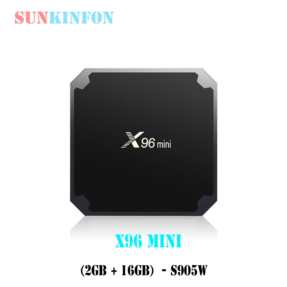 [2GB + 16GB] Android 7.1 TV Box X96 Mini Amlogic S905W Quad Core WIFI 4K*2K HD PK X96 H96 Pro X92 Smart Set Top BOX Media Player x96 mini smart tv box android 7 1 1gb 8gb 2gb 16gb amlogic s905w quad core h 265 4k 2 4ghz wifi x96mini pk mx9 pro set top box