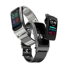 2-in-1 Bluetooth Earphone Smart Wristband Blood Pressure Heart Rate Monitor Calling Smart Watch Fitness GPS Track Sport Bracelet недорого