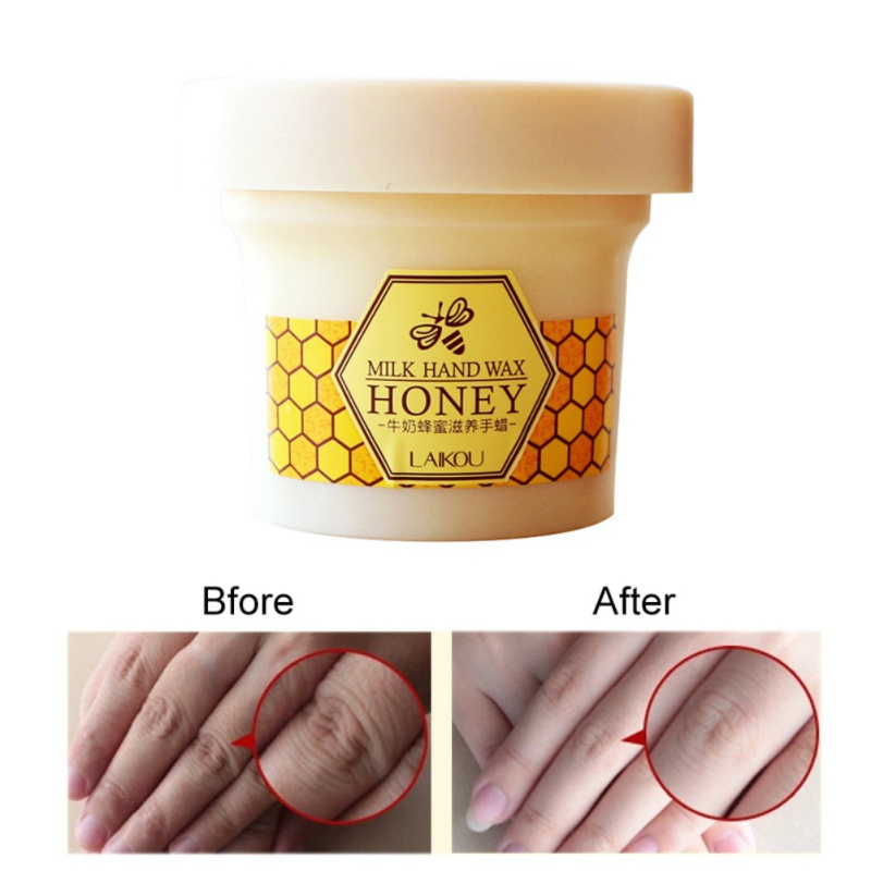 Beauty Milk Honey Paraffin Wax Hand Mask Hand Care Moisturizing Whitening Skin Care Exfoliating Calluses Hand Film Hand Cream 8