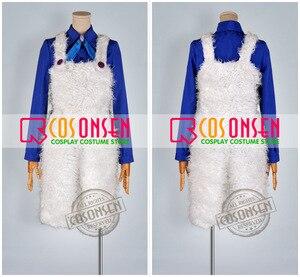Image 2 - Cosplayonsen karneval nai cosplay traje azul camisa calças brancas qualquer tamanho feito à mão