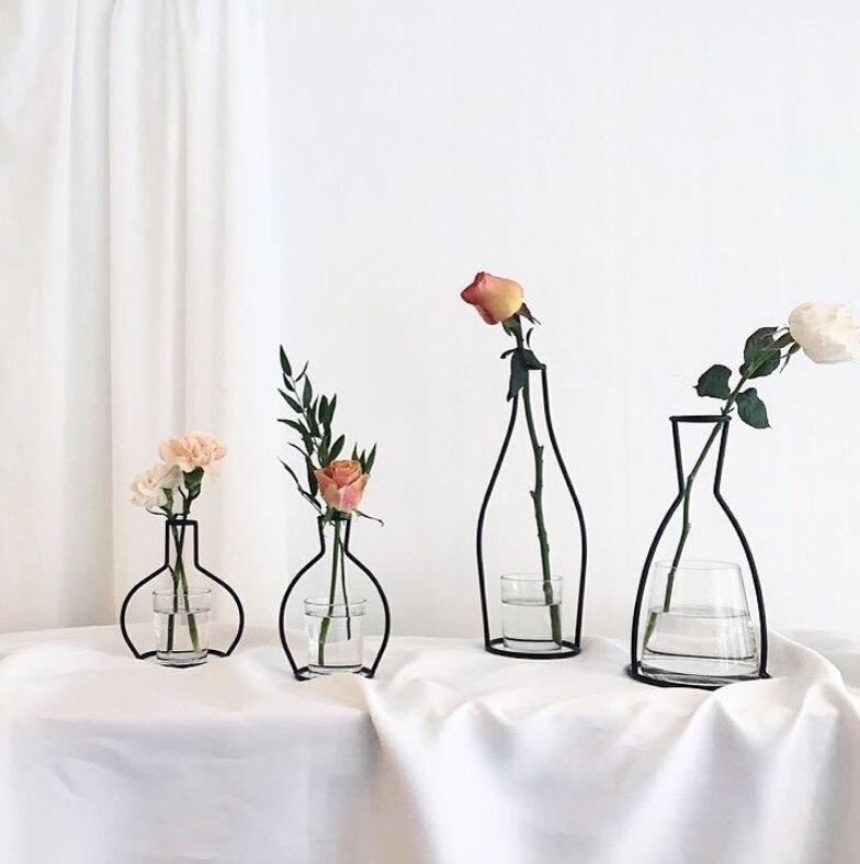 Новая креативная ваза DIY вечерние ваза черный держатель для растений подставка держатель железный провод цветок вазы орнамент жизнь
