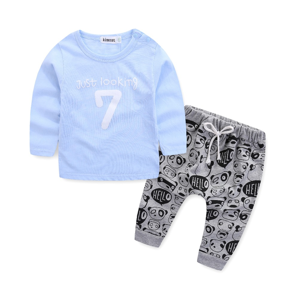 08117d236 Newborn clothes for bebes style letter printed casual baby boy clothes baby  newborn baby clothes baby clothing kids clothes-in Clothing Sets from  Mother ...