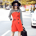 Runway 2016 Winter 2 Piece Set Women Long Sleeve Striped Tops and Strap Skirt Suit Plus Size Women's Clothing Sets 3xl 4xl 5xl
