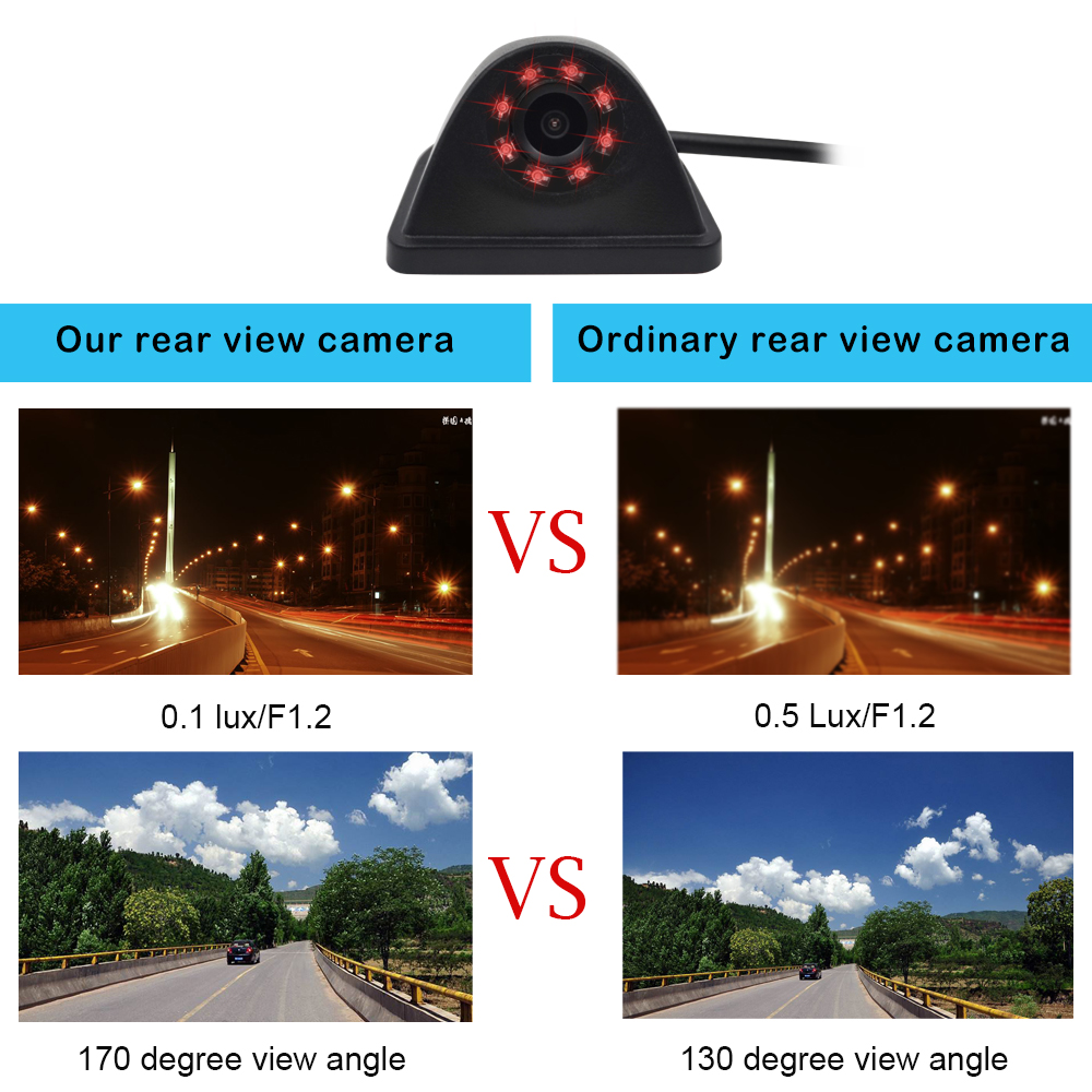 Image 5 - Car Wifi Rear View Vehicle Camera Parking Reversing Camera HD Night Vision Mini Body Water proof Tachograph For iPhone&Android-in Vehicle Camera from Automobiles & Motorcycles