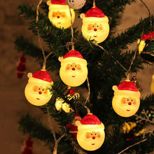 1.5M 10leds 3M 20leds Lovely Santa Claus LED String Lights Waterproof Christmas Tree Holiday New Year Party Decoration Garland(China)