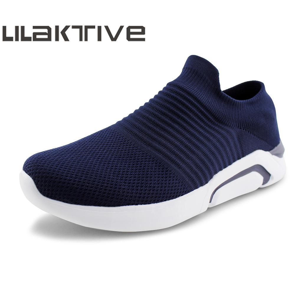 LILAKTIVE Men Walking Shoes Outdoor Jogging Lightweight Comfortable Sports Sneakers