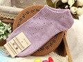 1 pares de verão seção fina de algodão meias navio de estilo de cor sólida como fujioka senhoras encantadoras meias