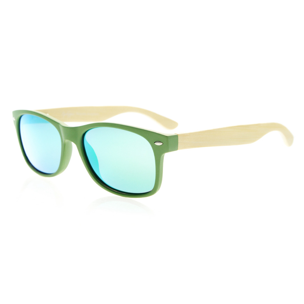 a886eb8d8fd R093 Polarized Eyekepper Quality Spring Hinges Bamboo Wood Arms Classic  Womens Polarized Sunglasses