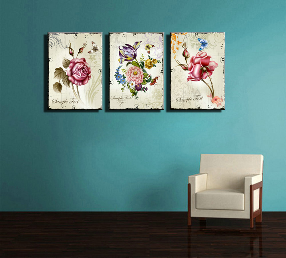 Triptych Cheap Modern Canvas Prints Rose Drawing Picture Wall Art Printed  Painting Set Supplier Decoration Pieces For Home Decor In Painting U0026  Calligraphy ...