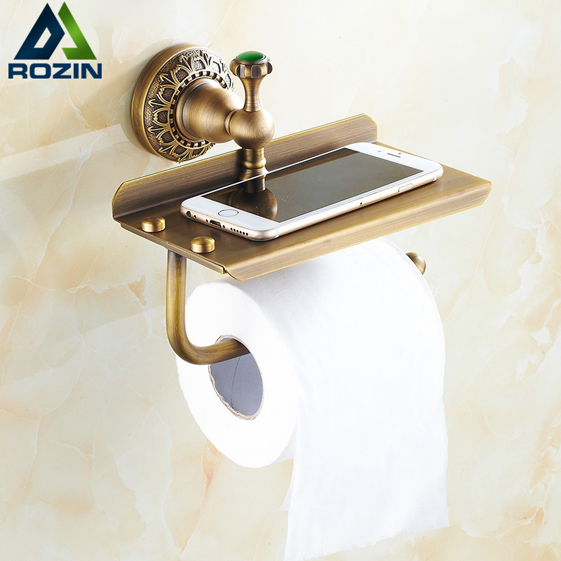 toilet tissue holder free shipping wall mount brass roll paper tissue holder 11561