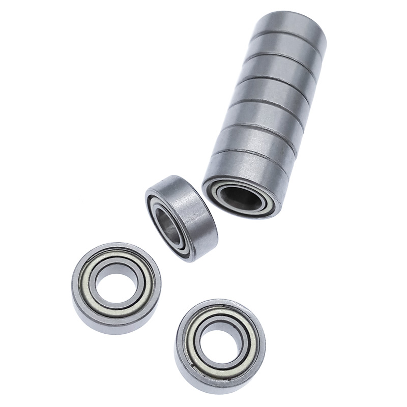 10pcs MR115 Miniature Bearing 5X11X4mm Carbon Steel Deep Groove Ball Bearing For 3D Printer Functional Mechanical Parts