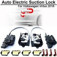 Carbar умный автомобильный электрическое всасывание дверной замок для Volkswagen VW Virtus Автоматическая Мягкая закрывающая Супер тишина самовсасыв